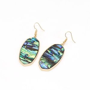 Jewelry - 4/$25 • Gold Tone Abalone Shell Drop Earrings